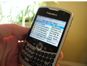 email on blackberry