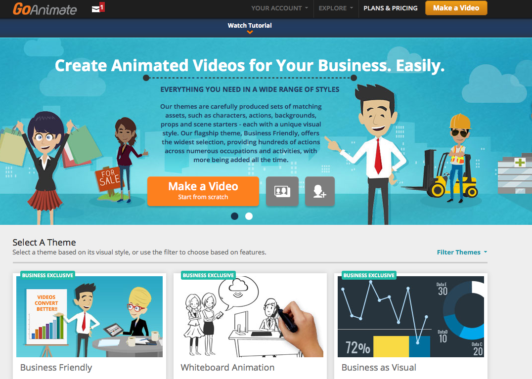 Tool review goanimate for video content creation Go to the website