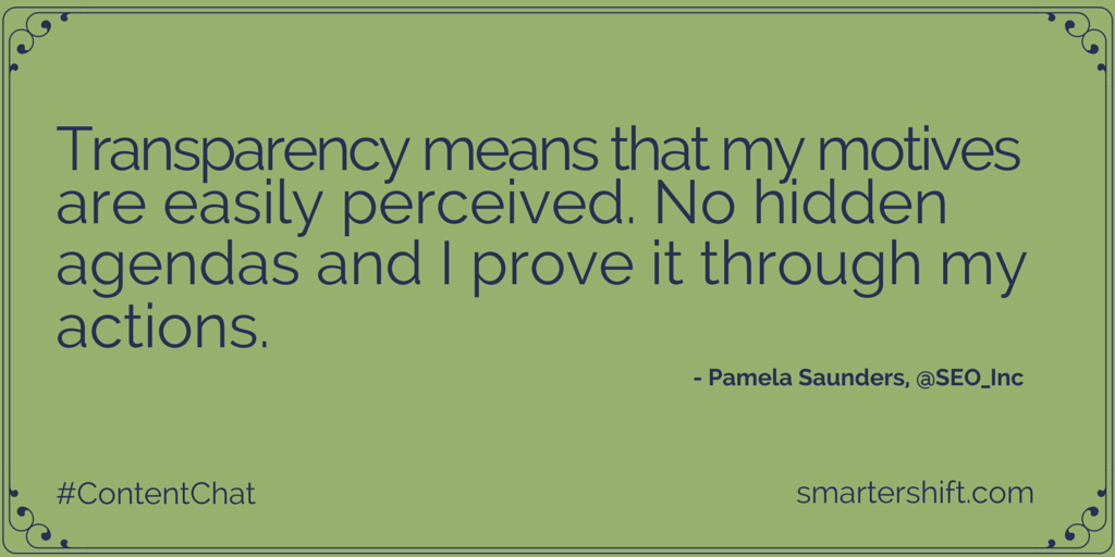 Pamela Saunders quote